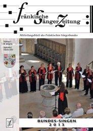 FSZ 5/2013 - Fränkischer Sängerbund
