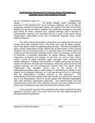 Hold Harmless Agreement For Volunteer Group ... - City of Huntsville