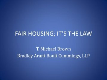 FAIR HOUSING; IT'S THE LAW