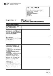 Projektskizze Praxisarbeiten - Hsw-basel.ch