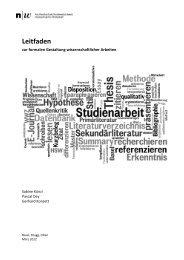 HSW-Leitfaden Gestaltung 2012-V3 - Fachhochschule ...