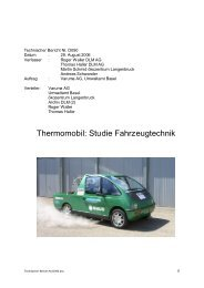 Thermomobil: Studie Fahrzeugtechnik - Hsw-basel.ch
