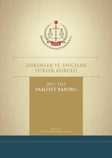 HSYK 2011 yılı faaliyet raporu - Hâkimler ve Savcılar Yüksek Kurulu