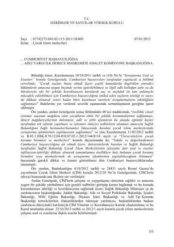Çocuk İzlem Merkezi - Hâkimler ve Savcılar Yüksek Kurulu
