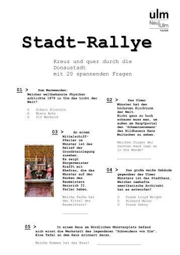 Stadt-Rallye - Ulm/Neu-Ulm