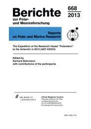 ANT-XXIX/4 - ePIC - Alfred-Wegener-Institut für Polar- und ...