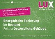 Programm LUX Kongress 2013 - LUX ist intelligente Energie