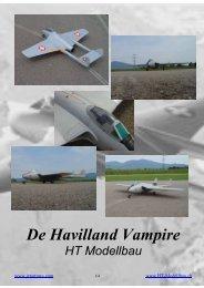 De Havilland Vampire (deutsch/englisch) - HT-Modellbau