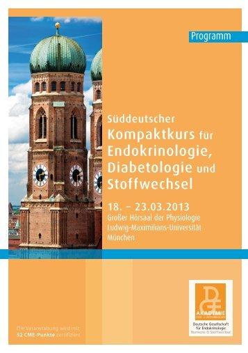 Kompaktkurs für Endokrinologie, Diabetologie und Stoffwechsel