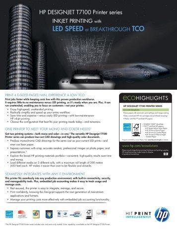 HP DESIGNJET T7100 Printer series