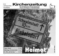Kirchenzeitung 2013-06 Juli/August - kirchetreysa.de