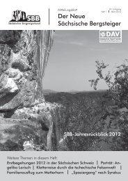 März 2013 - Sächsischer Bergsteigerbund