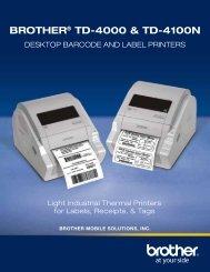 BROTHER® TD-4000 & TD-4100N - Top Edge Engineering