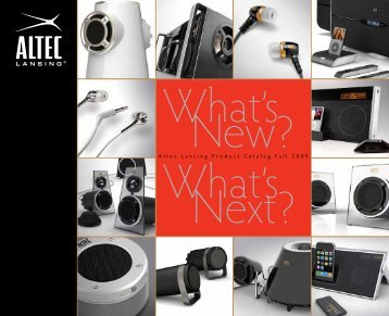 Altec Lansing Product Catalog Fall 2009