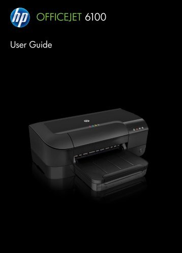 HP Officejet 6100 ePrinter User Guide – ENWW