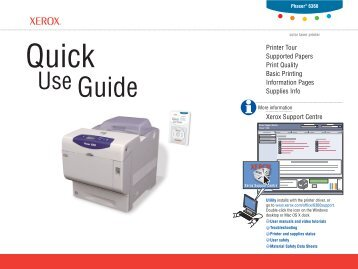Quick Use Guide - Xerox Support and Drivers