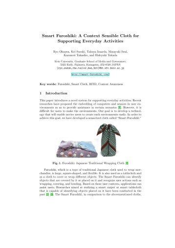 Smart Furoshiki: A Context Sensible Cloth for ... - Keio University
