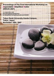 Proceedings of The First International Workshop on ... - Keio University
