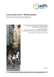 Verkehrspolitisches Programm - ADFC Regensburg