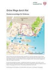 Ausführliche Routenbeschreibungen für Holtenau als PDF