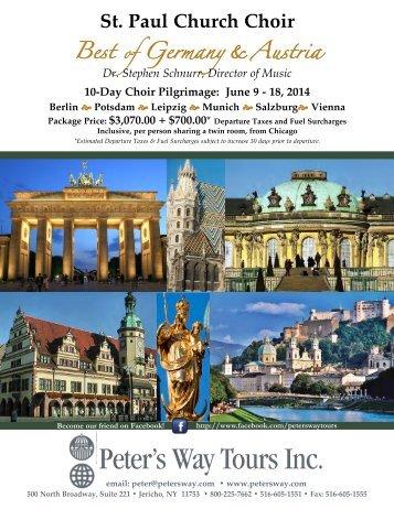 choir tour). - Catholic Web