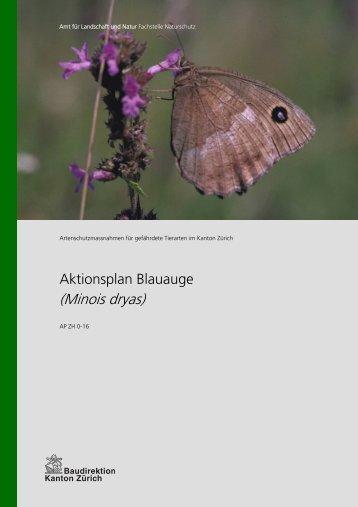 Aktionsplan Blauauge - Amt für Landschaft und Natur - Kanton Zürich