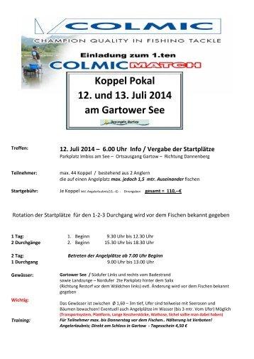 1. Colmic Koppel Pokal Gartow - beim Champions Team