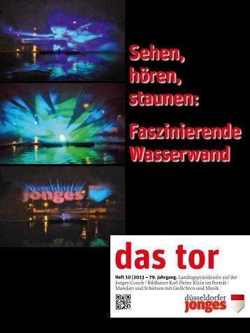 Faszinierende Wasserwand - Heimatverein Düsseldorfer Jonges