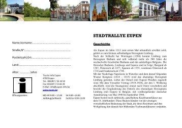 STADTRALLYE EUPEN - Stadt Eupen