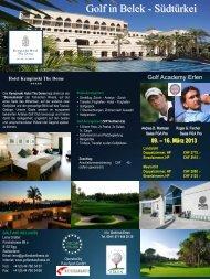 09. – 16. März 2013 - Golfclub Erlen