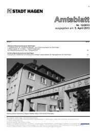 Nr. 12/2013 ausgegeben am: 5. April 2013 - Hagen
