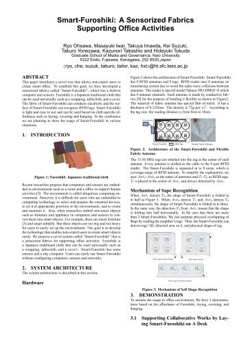 Smart-Furoshiki: A Sensorized Fabrics Supporting ... - Keio University