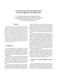 Autonomous and Asynchronous Operation of ... - Keio University