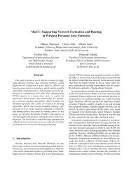 MaCC: Supporting Network Formation and Routing ... - Keio University