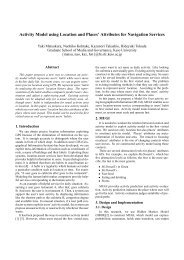 Activity Model using Location and Places' Attributes ... - Keio University