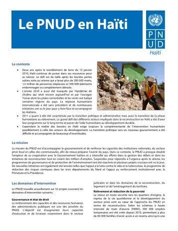Le PNUD en Haïti