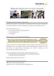 Lehrberufe & Bewerbungsprozess allgemein