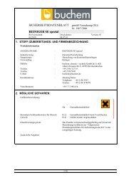 SDBL REINIGER SE spezial 2010-1 - Buchem Chemie + Technik ...