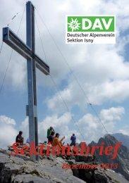 Sektionsbrief - Alpenverein Isny