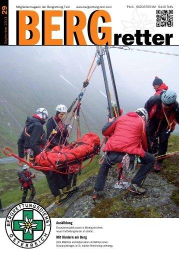 Aktueller BERGretter Tirol Nr. 29 - Österreichischer Bergrettungsdienst