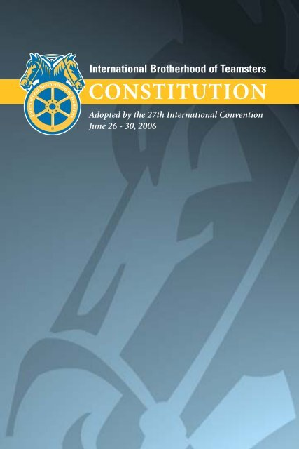 Constitution - Teamsters Local 399