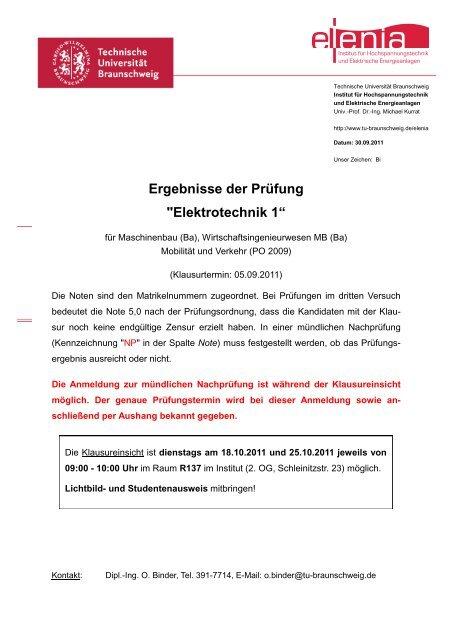 07_Notenaushang Deckblatt_Ba H11 - elenia - Technische ...