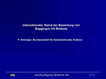"""""""integrierter Ansatz""""? - HTG Fachausschuss Baggergut"""