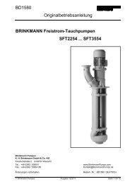 BRINKMANN Freistrom-Tauchpumpen ... - BRINKMANN PUMPS