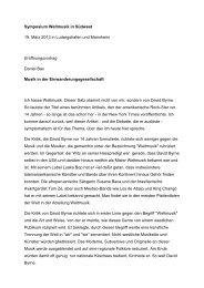 Symposium Weltmusik in Südwest 19. März 2013 in Ludwigshafen ...