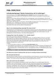 FAQs 2009/2010 - HTL Braunau
