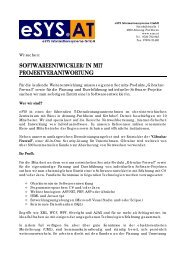 softwareentwickler/in mit projektverantwortung - HTL Braunau