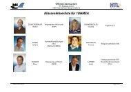 Klassenlehrerliste für 1BHMEA - HTL Braunau