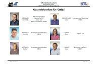 Klassenlehrerliste für 1CHELS - HTL Braunau