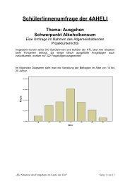 Schüler/innenumfrage der 4AHELI - HTL Braunau